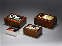 hinged box with sporting figures by max snischek