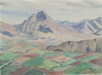 mountain view (+ 2 others; 3 works, various sizes) by agnes anne abbot