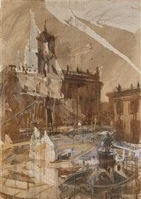 city scene by valery koshlyakov