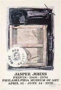 jasper johns: prints 1960-1970 exhibition poster by jasper johns