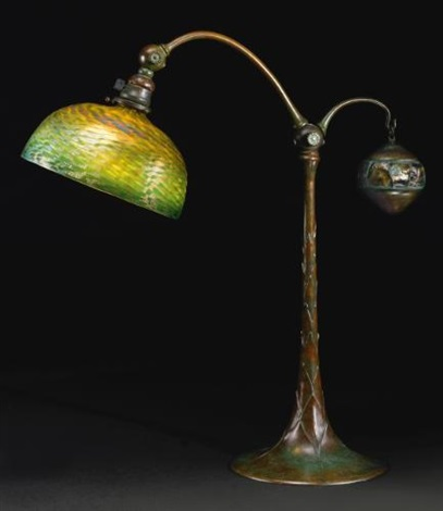 counter balance table lamp by louis comfort tiffany