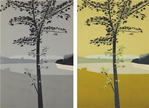 swamp maple 1 and swamp maple 2 2 works by alex katz