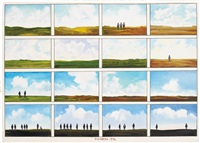 16 long island landscapes by saul steinberg