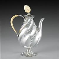 a rare silver coffee pot by dagobert peche