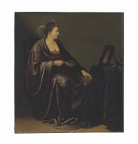 a lady seated before a mirror: an allegory of vanity by willem bartsius