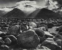 clearing storm, mt. williamson, sierra nevada (from manzanar) by ansel adams