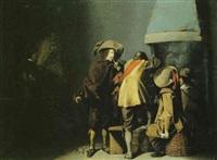 le repos des soldats dans une auberge by simon kick