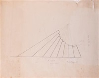 study for leaning strata by robert smithson