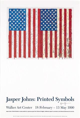 flags i exhibition poster for jasper johns printed symbols walker art center minneapolis by jasper johns