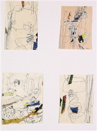 ohne titel (4 studies) by gottfried fabian