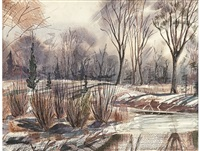 winter landscape by william kentridge