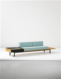 bench with side table and drawer (from cité cansado, cansado, mauritania) by charlotte perriand