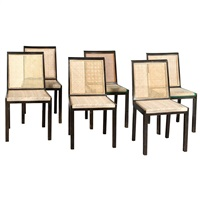 set of six early modernist corall chairs, for nordiska kompaniet by axel einar hjorth