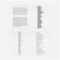 lists suite (portfolio of 4) by kay rosen