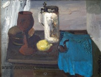 still life with a pipe by robert muzis