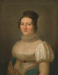 portrait einer dame und eines herren by karl gottlieb schweikart