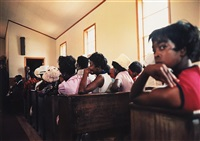 como, mississippi (black women in church) (from dust bells vol. i) by william eggleston
