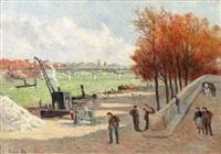 les quais de la seine a paris (quai malaquais) by maximilien luce