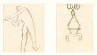 estudios de escenas industriales (pair) by aurelio arteta y errasti