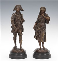 rench revolutionary soldier with tricorn hat and sword; rench revolutionary soldier with tricorn hat and sword (2 works) by pierre picault