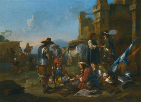 a company of soldiers by jan miel