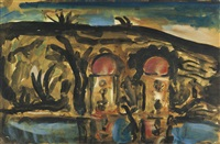 paysage africain (pour ubu) by georges rouault