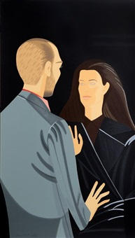 pas de deux iii (francesco and alba clemente) by alex katz