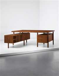 demountable desk, model no. pj-bu-15-a, designed for the secretariat and the administrative buildings, chandigarh by pierre jeanneret