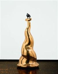 bird on a column by fernando botero