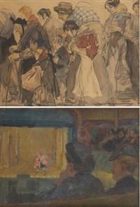 dans la loge de théâtre (various sizes, 2 works) by gérardus hendrik grauss