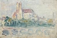 la cathedrale d'auxerre (etude) by maximilien luce