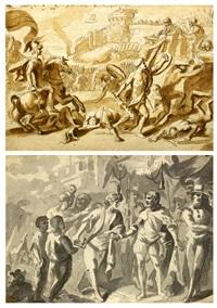 expugnación de una ciudad (recto) y entrega de las llaves (verso) by josé (inglada) aparicio