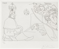 raphael et la fornarina xix (from series 347) by pablo picasso