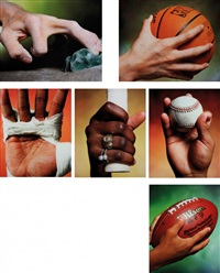 hands series (6 works) by andres serrano