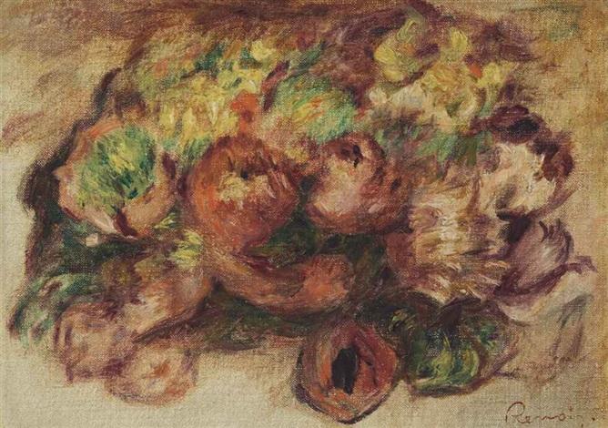 fleurs by pierre auguste renoir