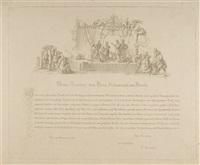 widmungsblatt an goethe by peter von cornelius