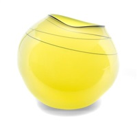 a dale chihuly studio glass basket sculpture by dale chihuly