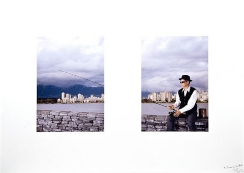 fishing diptych by rodney graham