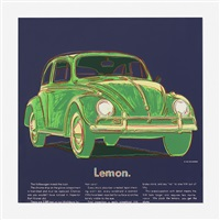 volkswagen lemon (from the ads series) by andy warhol