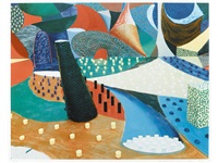 second detail, snails space, march 25th by david hockney