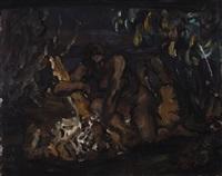 bacchante with panther by leo von könig