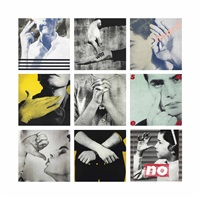 untitled (we will no longer be seen and not heard) (set of 9) by barbara kruger