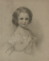 portrait of a young girl (+ portrait of a girl; pair) by eden upton eddis