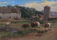 the barnyard by léon barillot