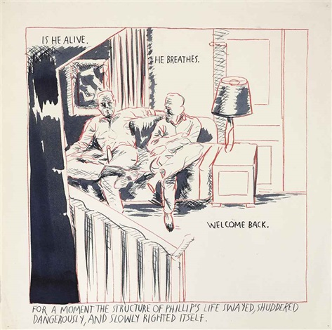 no title (is he alive...) by raymond pettibon