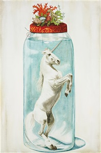 unicorn in jar by marianna gartner
