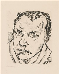 large self-portrait by max beckmann