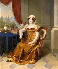 portrait of lady (madame masbou?) by firmin massot