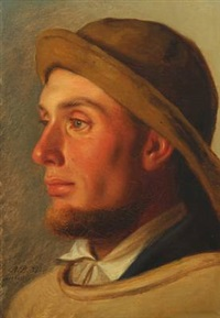 portrait of a fisherman by anton laurids johannes dorph