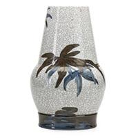 large crackleware vase by effie hegermann-lindencrone